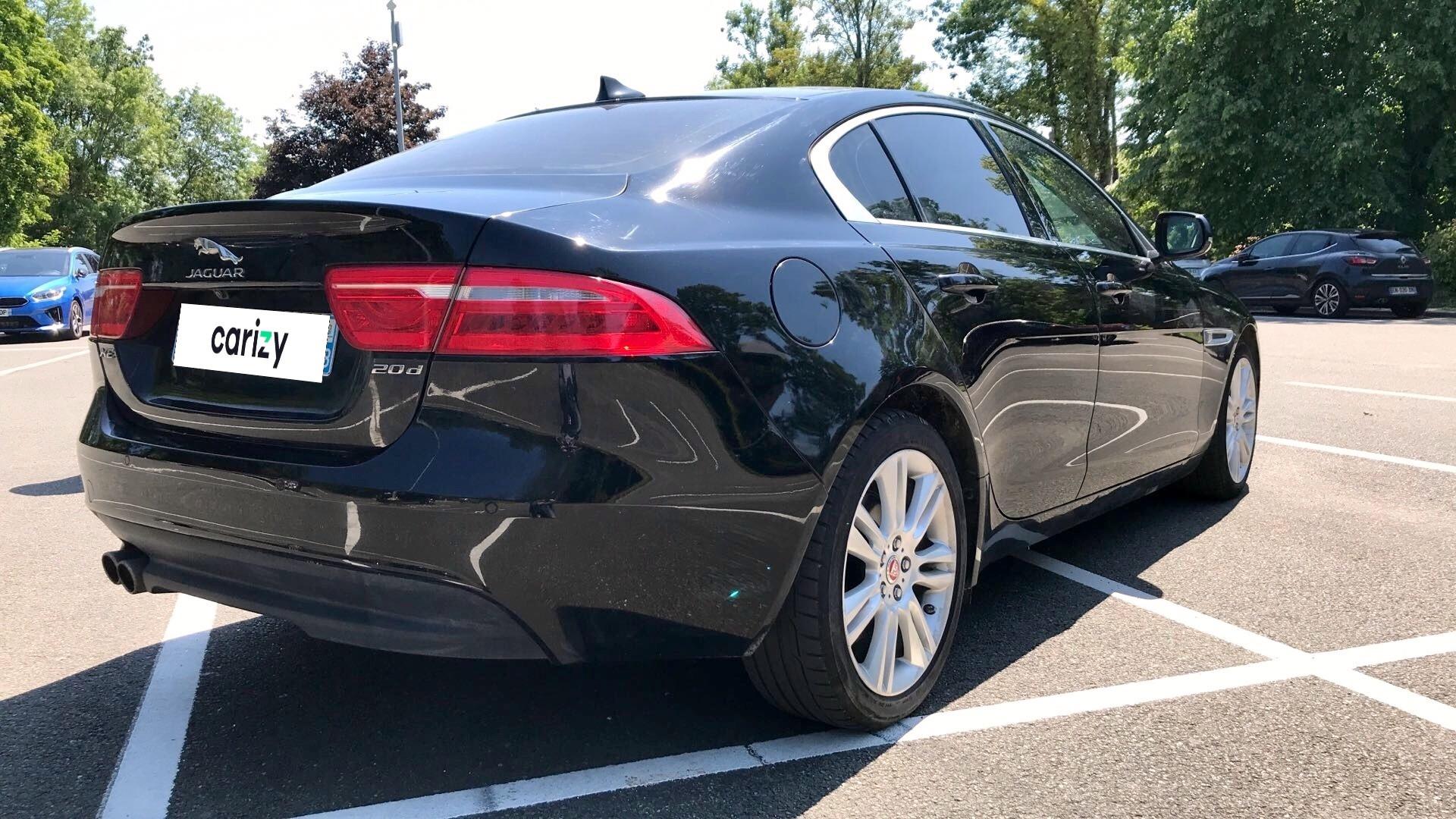 jaguar xe occasion 2016 profil arriere droit