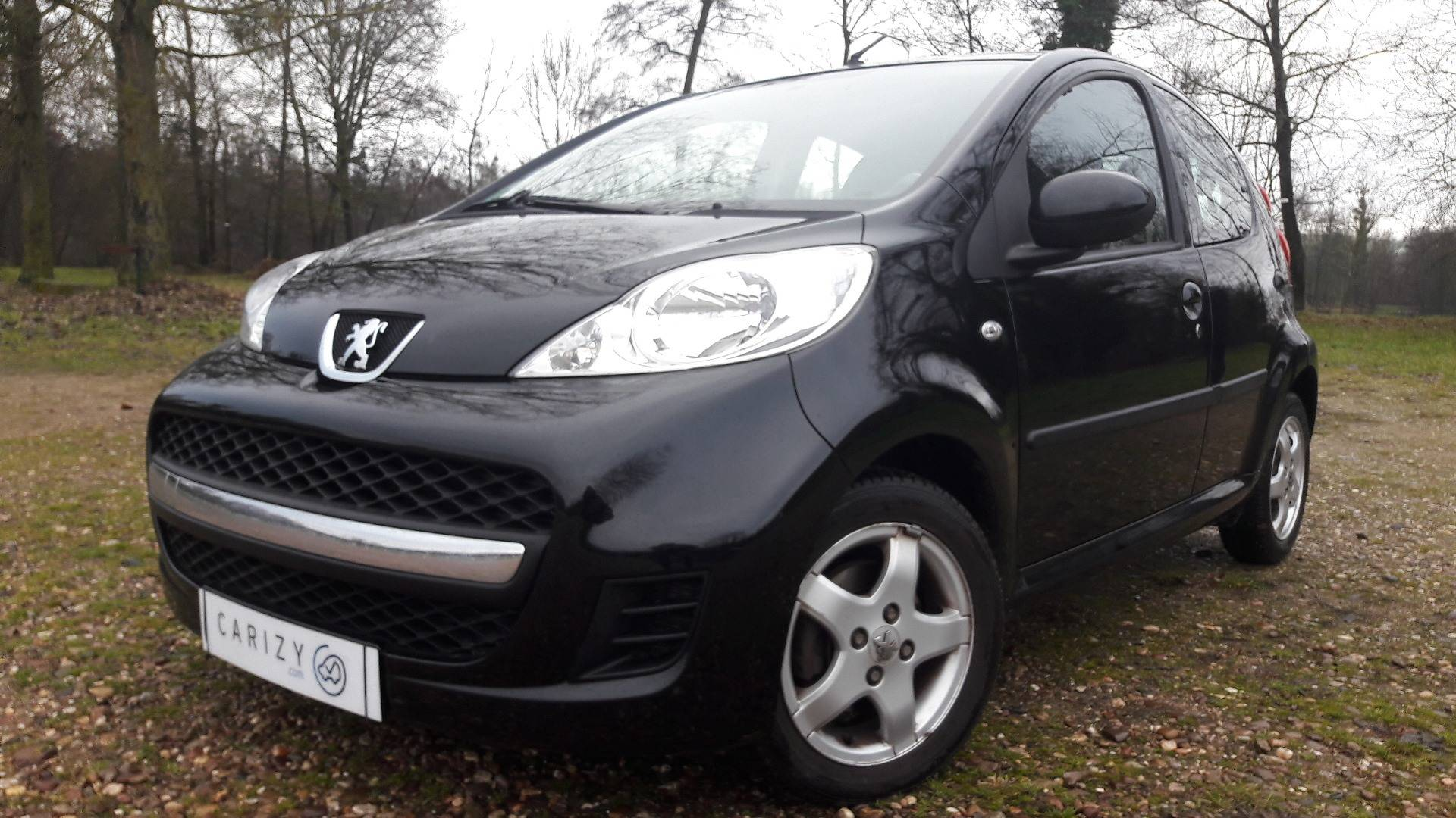 peugeot 107 d 39 occasion 1 0 70 black silver woippy carizy. Black Bedroom Furniture Sets. Home Design Ideas