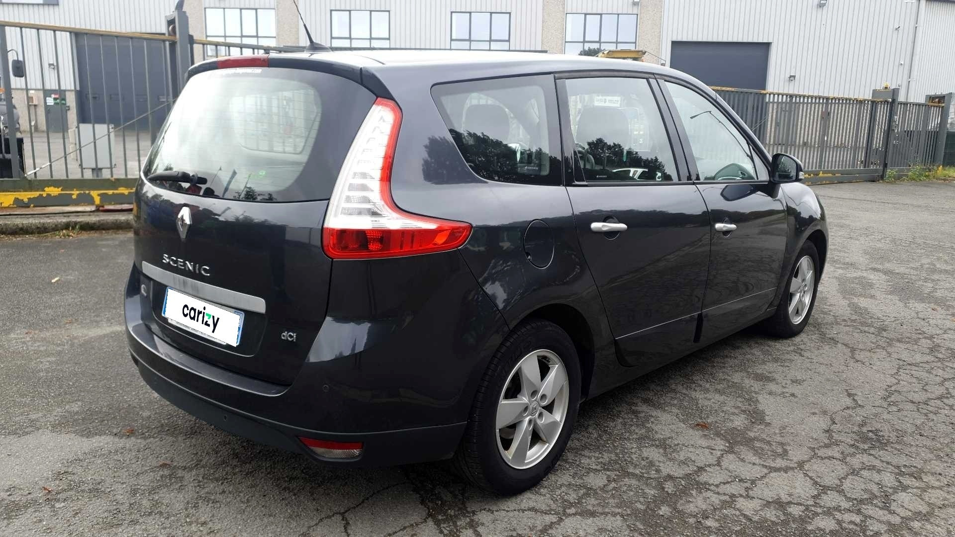 renault grand scenic iii occasion 2010 profil arriere droit
