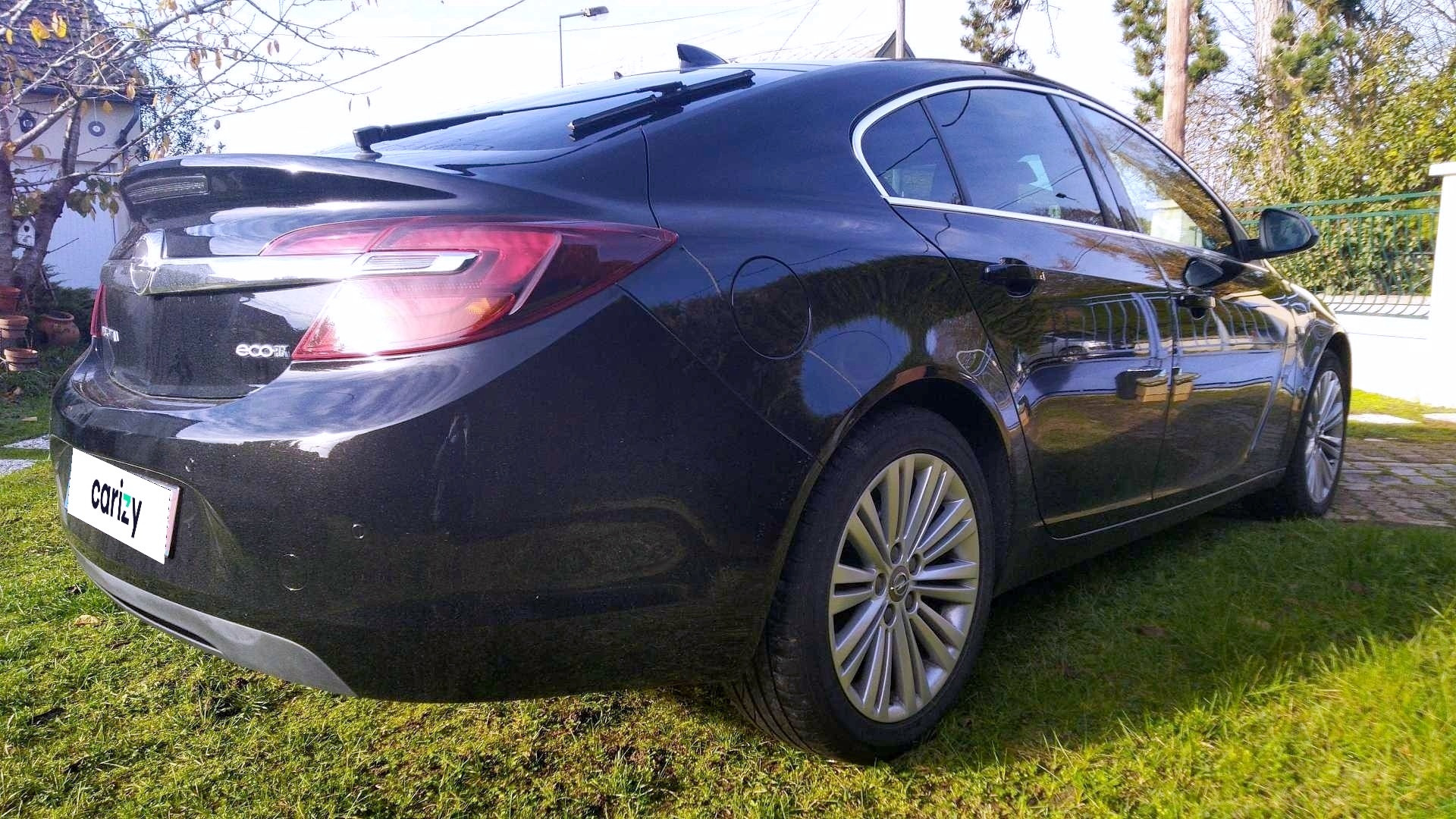 opel insignia grand sport business occasion 2017 profil arriere droit