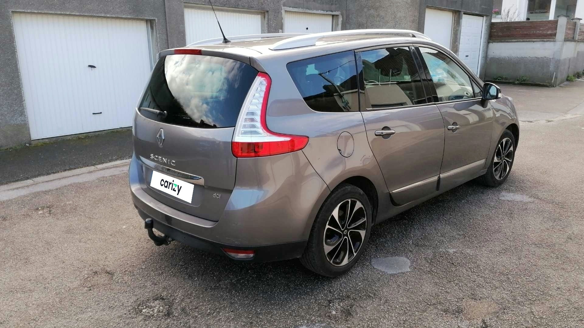 renault grand scenic iii occasion 2016 profil arriere droit