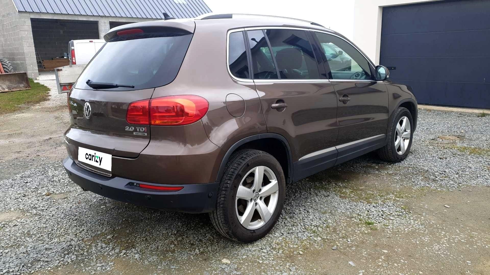 volkswagen tiguan occasion 2012 profil arriere droit