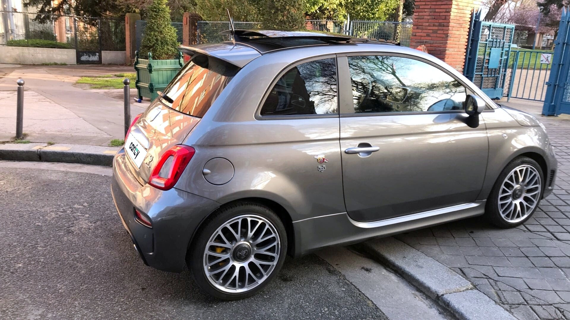 abarth 595 occasion 2018 profil arriere droit