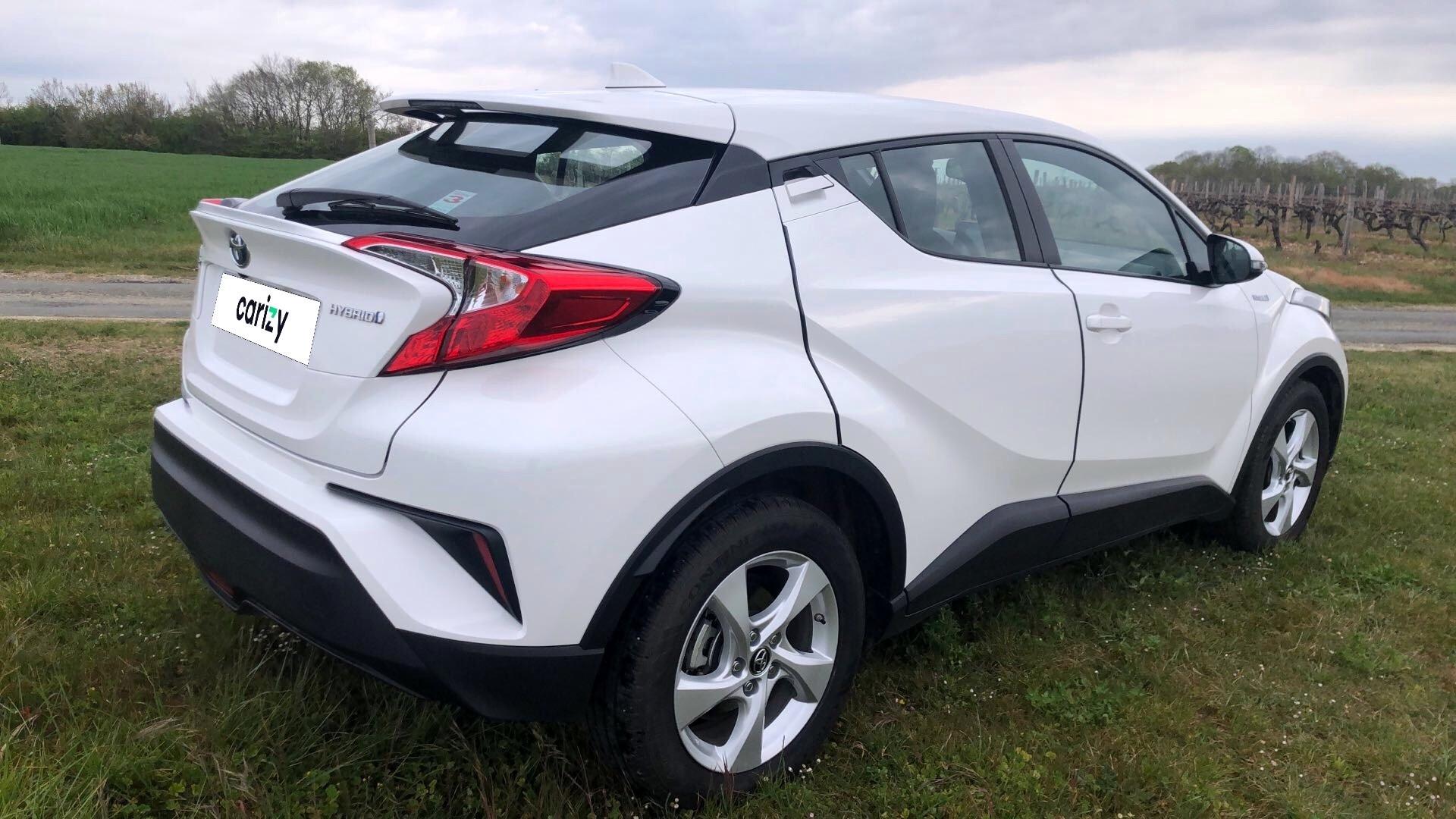 toyota c hr hybride rc18 occasion 2018 profil arriere droit